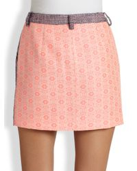 Rebecca Minkoff - Pink Daryl Tweed Mini Skirt - Lyst