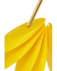 Marni - Yellow Goldtone Resin Earrings - Lyst