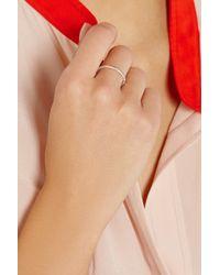 Ileana Makri - Metallic Eternity Thread 18-Karat Rose Gold Diamond Ring - Lyst