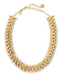 kate spade new york - Metallic Midnight Rendezvous Necklace Golden - Lyst