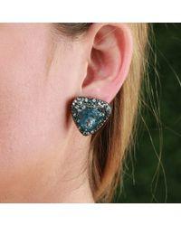 Katherine Jetter | Blue Aquamarine Trillion Earrings | Lyst