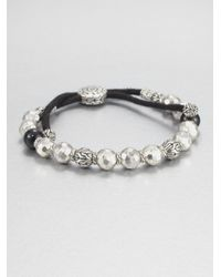John Hardy | Metallic Black Tourmaline and Sterling Silver Bead Bracelet | Lyst