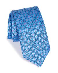 Ted Baker | Blue Geometric Silk Tie for Men | Lyst