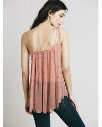 Free People - Pink Embellished One Shoulder Top - Lyst