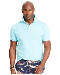Polo Ralph Lauren - Blue Big & Tall Classic-fit Basic Mesh Polo for Men - Lyst