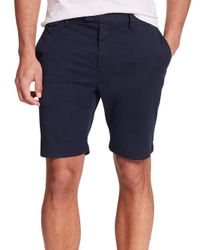 Michael Kors - Blue Cotton Twill Slim-fit Shorts for Men - Lyst