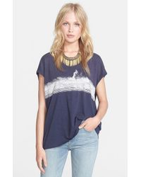 Free People | Blue 'thunder Moon' Graphic Tee | Lyst