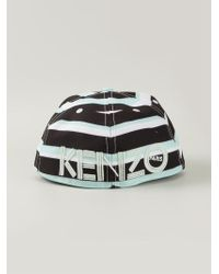 KENZO | Black 'New Era' Breton Stripes Cap for Men | Lyst