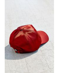Urban Outfitters - Red Satin Baseball Hat - Lyst