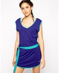 Roxy - Blue Marbella Dress - Lyst