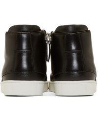 Want Les Essentiels De La Vie Black Leather High-top Lennon Sneakers for men