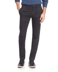 Billy Reid | Black Leonard Cotton Chinos for Men | Lyst
