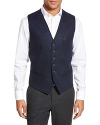 Ted Baker | Blue 'illiwai' Contrast Waistcoat for Men | Lyst