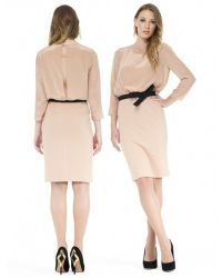 Boutique Moschino Natural Belted Dress