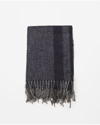 Zara | Black Combined Fabric Scarf for Men | Lyst