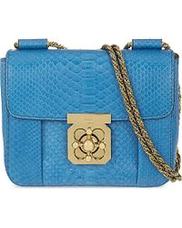 b96ef080c699 Chloé Elsie Small Python-Embossed Leather Over The Shoulder Handbag ...