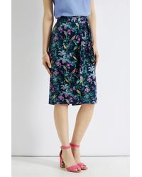 Oasis Pink Rainforest Fuschia Pencil Skirt