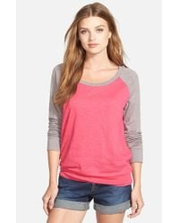 Caslon | Pink Lightweight Colorblock Cotton Tee | Lyst
