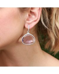 Inbar - White Amethyst Drop Earrings - Lyst