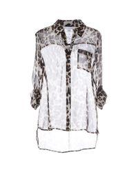 Diane von Furstenberg | Gray Shirt | Lyst