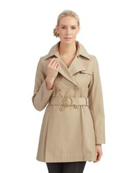 Via Spiga | Natural Double Breasted Trench Coat | Lyst