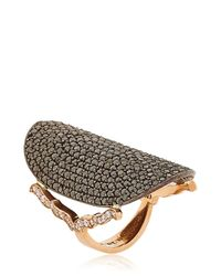 Sara Weinstock - Black Diamond Saddle Ring - Lyst