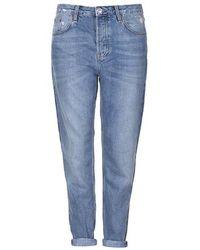 TOPSHOP Moto Blue Hayden Boyfriend Jeans