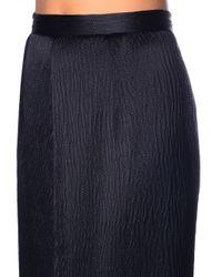 Balenciaga - Black Asymmetric Bonded-crepe Skirt - Lyst