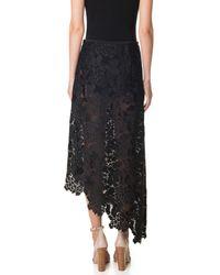 Tibi | Black Lace Asymmetrical Skirt | Lyst