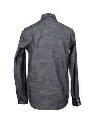 Woolrich - Gray Long Sleeve Shirt for Men - Lyst