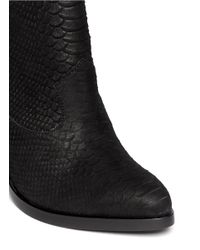 Ash - Black 'lula' Concealed Wedge Python Effect Ankle Boots - Lyst