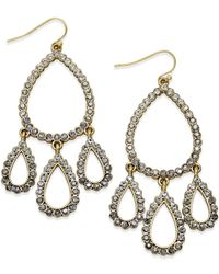INC International Concepts | Metallic Gold-tone Ombré Pavé Chandelier Earrings | Lyst