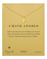 Dogeared Metallic I Have Angels Necklace