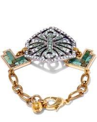 Lulu Frost | Metallic Gold-plated Ortigia Bracelet | Lyst