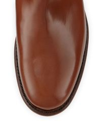 Frye Brown Abigail Leather Riding Boot