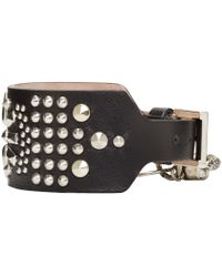 Alexander McQueen - Black Studded Bracelet for Men - Lyst