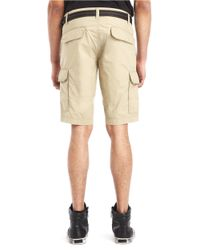 Kenneth Cole | Natural Hemmed Cargo Shorts for Men | Lyst