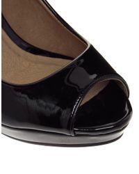 ALDO - Black Leanora Heeled Peep Toe Shoe - Lyst