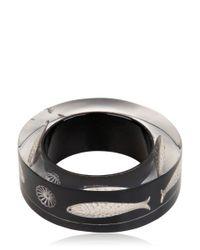 Nicholas King | Black Fish Bangle Bracelet | Lyst