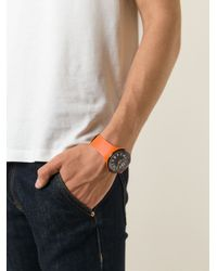 Tateossian - Orange 'Racing Time' Watch for Men - Lyst