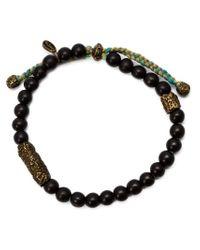 M. Cohen - Black Carved Bead Bracelet for Men - Lyst