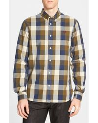 Fred Perry | Blue 'winter Gingham' Trim Fit Sport Shirt for Men | Lyst