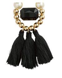 H&M Black Earrings With Tassels