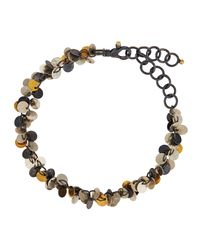 Gurhan - Multicolor Tricolor Flake Charm Bracelet - Lyst