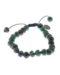 Joseph Brooks | Green Azurite And Chrysocolla Bracelet for Men | Lyst