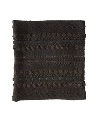 Lauren by Ralph Lauren | Black Multi Texture Ring | Lyst