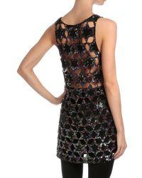 Givenchy - Black Star-embellished Cocktail Tank Dress - Lyst