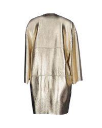 Blancha - Metallic Full-length Jacket - Lyst