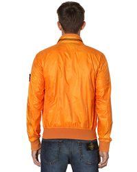 Stone Island - Orange Micro Ripstop Tyvek Shield Casual Jacket for Men - Lyst