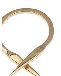 Luis Morais | Metallic Double Spike Ring | Lyst